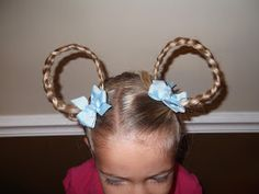 How to do Crazy Hair  Day at School    Minnie Mouse Hairdo     We love crazy hair day (although I am thinking next year the school should N...