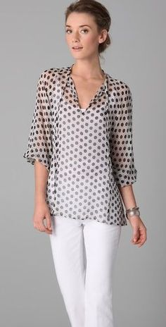 Resultado de imagen para what to wear with white neck tie blouse
