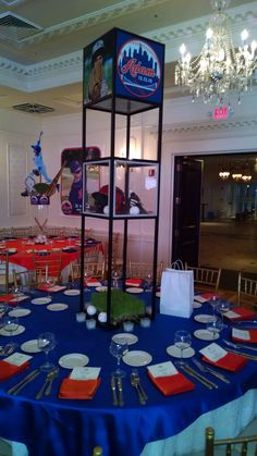 Baseball themed centerpieces created by Lighter Than Air - www.ltaparty.com   #lighterthanair #ltaparty #centerpiece #baseball #sports #turf