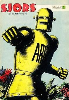Archie the Robot Archie,the Man of Steel by the English artist ted Kearon -