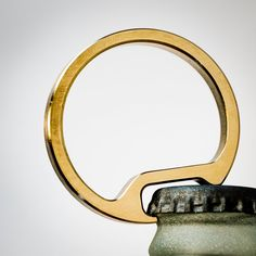 Bottle Opener Keychain-men's gift for guys-Machined by FutureRelic