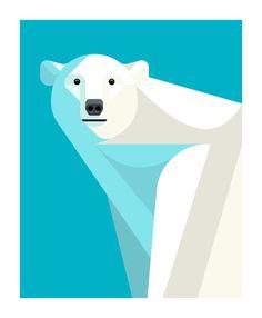 Polar Bear Portrait Print