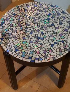 CD mosaic coffee table