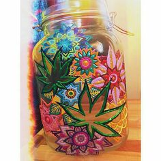 Cool jar for weed.  Make200 medicated candies from just 1/4 oz. of precious weed. Easy directions from a great $2.99 e-book on medical marijuana: MARIJUANA - Guide to Buying, Growing, Harvesting, and Making Medical Marijuana Oil and Delicious Candies to