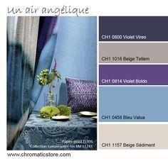Harmonie en faux camaïeu élégante mariant tradition et modernism. www.chromaticstore.com #inspiration #deco #bleu Color Combos, Color Schemes, Colour Inspiration, Colour Palettes, Decoration, Beige, Colorful, Couture, Home Decor