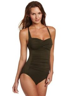 Seafolly Women's Bandeau Maillot One Piece Swimsuit