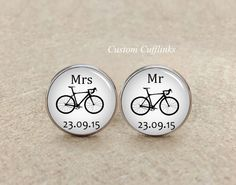 Round Bicycle Cufflinksbicycle cufflinkscycle cufflinks photo cuff linksbike cufflinks custom cufflinksFather's Day gift bike lover
