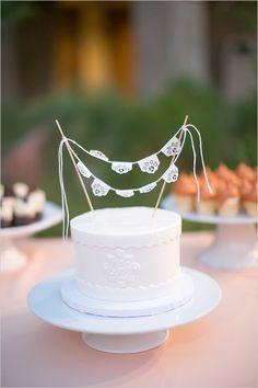 flag banner cake topper @weddingchicks