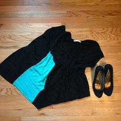 """MALLOY: Black Maxi Teal and black maxi dress!  Super cute and comfortable for any occasion.  Worn a few times.  Too short for me seeing I'm 5'7"""".  Please use the offer button to negotiate pricing.  No trades, PayPal or off-site transactions. 🚫 Malloy Dresses Maxi"""