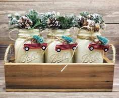 Red Truck Decor, Red Truck Christmas, Rustic Christmas Decor, Christmas Tabletop Decor, Holiday Decor by RustiqueCharmByLeese on Etsy christmastabletop Christmas Tabletop, Christmas Mason Jars, Christmas Table Decorations, Modern Christmas, Decoration Table, Holiday Decor, Seasonal Decor, Centerpiece Christmas, Christmas Table Cloth