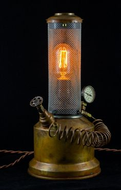 Steampunk Copper Still Lamp by GallagherStudio on Etsy