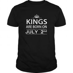 Cool Birthday July 2 Shirts King are born T Shirt Hoodie Shirt VNeck Shirt Sweat Shirt for womens and Men T-Shirts