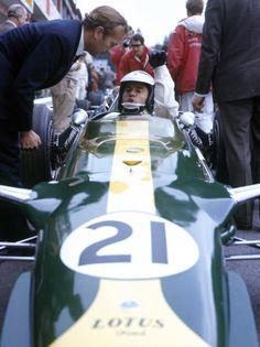 Vintage Jim Clark Ford Lotus Grand Prix Print