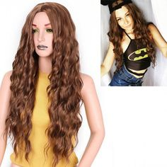 long light auburn curly wigs for women middle parting for sale Cheap Lace Front Wigs, Cheap Wigs, How To Wear A Wig, Light Auburn, Long Lights, Wigs For Sale, Wigs Online, Head Shapes, Blonde Wig