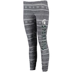 Michigan State Spartans Concepts Sport Women's Comeback Leggings - Charcoal
