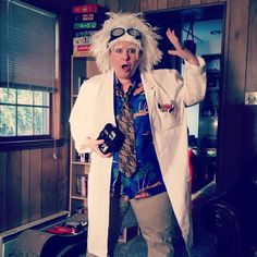 Doc Brown Back to the Future costume. I bought 50% of this costume from thrift stores.