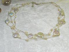 Wedding jewelry Wedding Necklace Bridal Necklace by Asnatjewelry