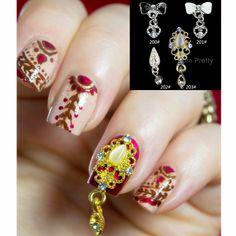 $1.81 3Pcs/set Candy Color Imitation Pearl Flower Clover 3D Nail Decoration Manicure Nail Art Decoration - BornPrettyStore.com