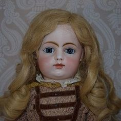 French Bisque Block Letter Francois Gaultier Bebe Doll - LYNETTE GROSS ANTIQUE DOLLS http://www.dollshopsunited.com/stores/lynettegrossdolls/items/1281788/French-Bisque-Block-Letter-Francois-Gaultier-Bebe-Doll #antiquedoll #dollshopsunited