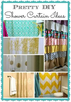 Why spend $ on a new shower curtain. Here are 6 pretty shower curtains that anyone can make.