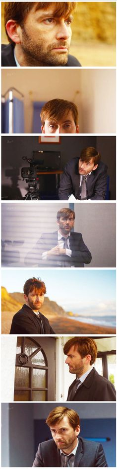 David Tennant in Broadchurch...his hair STILL looks fabulous. I miss his sideburns though.