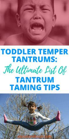 Toddler Temper Tantrums: The Ultimate List of Tantrum Taming Tips Parenting Classes, Parenting Toddlers, Parenting Books, Parenting Advice, Parenting Styles, Single Parenting, Parenting Quotes, Behavior Chart Toddler, Toddler Discipline