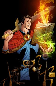 Doctor Strange by Joe Quesada, inks by Kevin Nowlan, colours by Richard Isanove *