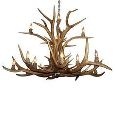 Canadian Antler Design ELKINV - M-N 16 Light Two-Tier Elk Chandelier