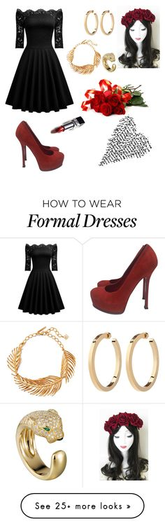 """Untitled #120"" by paandagabii on Polyvore featuring Oscar de la Renta, Yves Saint Laurent and Christian Dior"