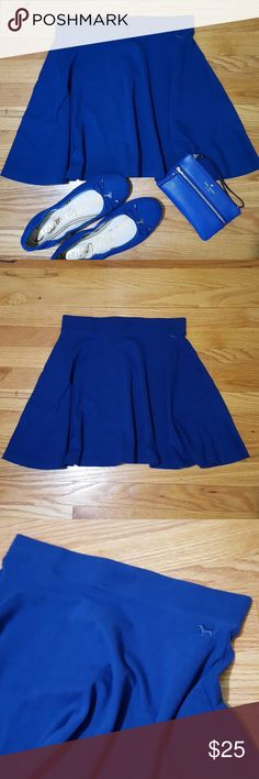 """PINK VS Cobalt Blue Circle Mini Skirt S New without tags! Bright cobalt blue circle skirt from PINK by Victoria's Secret. Size Small. Fits 2-4 best. Elastic banded waist with flared circle skirt. Waist laying flat 26"""" around. Length 15.5"""". Cotton with elastane for stretch. Soft and comfortable. Perfect color for summer! PINK Skirts Mini"""
