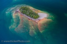 Lake Superior | ... Aerial picture of a little island in lake Superior in Ontario Canada