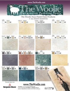 True Value Paint. Faux Finish Paint Color Combinations, Ideas, Samples and Videos. How to choose faux finish color combinations by The Woolie.