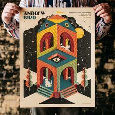 Image of Andrew Bird Concert Poster
