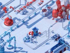 Dribbble - The Candy Canes Factory by gasta