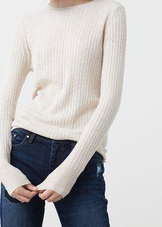 Pullover mit zopfmuster -  Damen | MANGO Deutschland