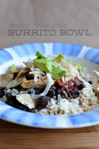 Healthy Dinner Ideas: Make a burrito bowl. Sooo delicious and simple to make! www.thirtyhandmadedays.com