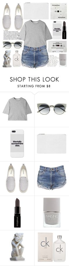 """Just be thankful that's there in your grasp"" by willneverdie ❤ liked on Polyvore featuring 3.1 Phillip Lim, CASSETTE, Whistles, H&M, OneTeaspoon, Smashbox, Nails Inc., NOVICA and Calvin Klein"