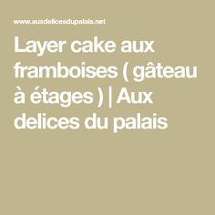 Layer cake aux framboises ( gâteau à étages ) | Aux delices du palais