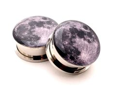 Full Moon Picture Plugs gauges - 8g, 6g, 4g, 2g, 0g, 00g, 7/16, 1/2, 9/16, 5/8, 3/4, 7/8, 1 inch