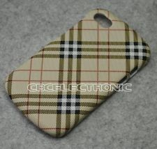 New Brown Checker hard case cover for Blackberry Q10