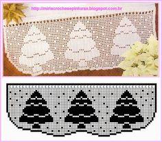 Crochet Christmas Filet - Chart ❥ 4U hilariafina  http://www.pinterest.com/hilariafina/