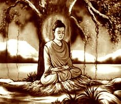 Bodhi Day is celebrated on 8th December across the Buddhist world. It is the day of meditation or remembrance for the Buddhist. It was in 596 BC that Siddhartha became Buddha or 'the Enlightened One' under the famous Bodhi Tree. Buddha Buddhism, Buddha Art, Buddha Decor, Tao, Best Buddha Quotes, Buddhist Teachings, Buddha Painting, Coffee Painting, Bodhi Tree