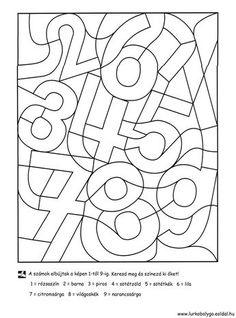 Kinder lernen spielend - ABC und 123 - Zahlen - Ausmalen und Lernen - Freebie *** Fun Kids Learning - Free Printable Learning and drawing the Numbers Numbers Preschool, Preschool Math, Kindergarten Worksheets, Teaching Math, Math For Kids, Fun Math, Math Games, Montessori Activities, Preschool Activities