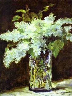 Edouard Manet (1832-1883) Lilac in a Glass, 1882. Alte Nationalgalerie, Berlin. http://arteseanp.blogspot.com