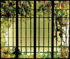 Tiffany Studios. Door panels. C. 1905. Leaded glass. The Charles Hosmer Morse Museum of American Art - Winter Park - USA