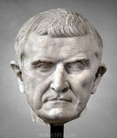 A marble head of Roman statesman and general Marcus Licinius Crassus, middle of century BCE. Ancient Rome, Ancient Art, Ancient History, Roman Sculpture, Sculpture Art, Art Romain, Rome Antique, Roman History, Sculptures