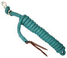 Showman 14' Clinicians Pro Braid Lead With Leather Popper | ChickSaddlery.com