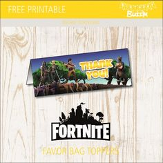 these free printable fortnite favor bag toppers are great for making themed favor bags for fortnite - fortnite free zombies