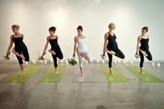 yoga class to start the bachelorette party? I think yes! -- Yoga-Zen-Bridal-Shoot-Andrea-Lee-Photography-33