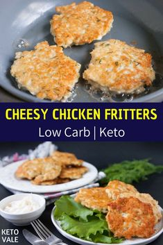 Cheesy Chicken Fritters Low Carb Recipe for Ketogenic Diet